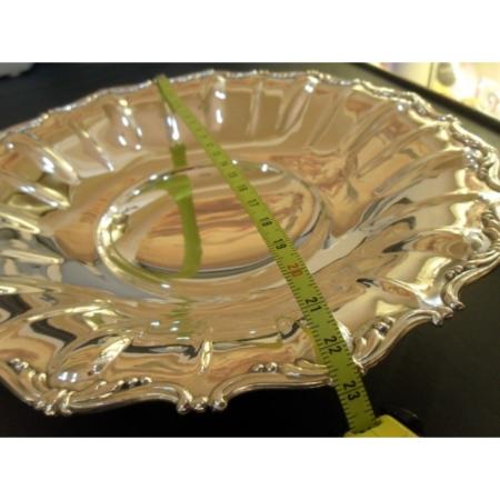 Piatto in argento 800% Misura Grande lavorato a mano martellato